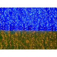 Гірлянда зовнішня Delux Curtain 288 Led 1.5x1m синій жовтий / чорний IP44 (10107981)