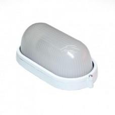 Світильник настінний евросвет WOL-20 60Вт Е27 овал білий IP65