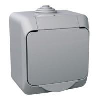 Вимикач SCHNEIDER CEDAR WDE000610 1кл, зовн, сірий IP44