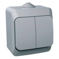 Вимикач SCHNEIDER CEDAR WDE000650 2кл, зовн, сірий IP44