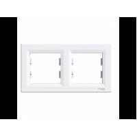 Рамка SCHNEIDER ASFORA EPH5800221 2-я горизонтальна біла