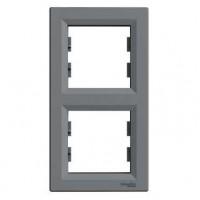 Рамка SCHNEIDER ASFORA EPH5810262 2-я вертикальна сталь