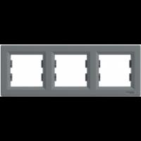 Рамка SCHNEIDER ASFORA EPH5800362 3-а горизонтальна сталь