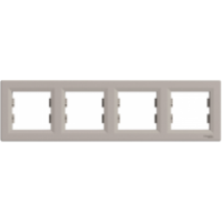 Рамка SCHNEIDER ASFORA EPH5800469 4-я горизонтальна бронза