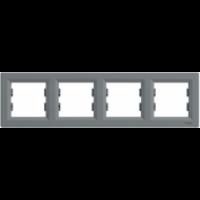 Рамка SCHNEIDER ASFORA EPH5800462 4-я горизонтальна сталь