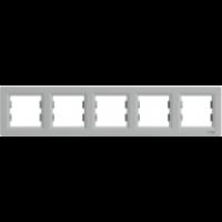 Рамка SCHNEIDER ASFORA EPH5800561 5-я горизонтальна алюміній