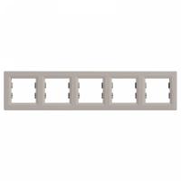 Рамка SCHNEIDER ASFORA EPH5800569 5-я горизонтальна бронза