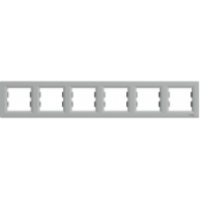 Рамка SCHNEIDER ASFORA EPH5800661 6-а горизонтальна алюміній