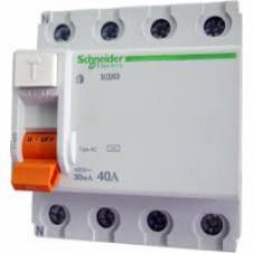 Диференціальне реле SCHNEIDER EZ9 4P 25A 30mA AC EZ9R34425
