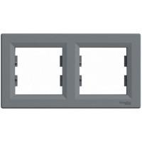 Рамка SCHNEIDER ASFORA EPH5800262 2-я горизонтальна сталь