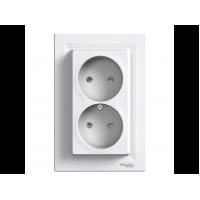 Розетка SCHNEIDER ASFORA EPH9700121 без з / к подвійна біла