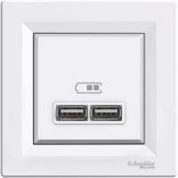 Розетка SCHNEIDER ASFORA EPH2700221 USB 2,1A біла