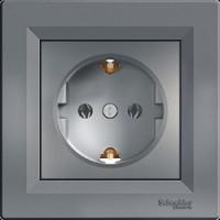 Розетка SCHNEIDER ASFORA EPH2900162 с з/к сталь