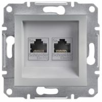 Розетка SCHNEIDER ASFORA EPH4300161 комп'ютерна RJ45 категорія 5e алюміній