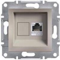Розетка SCHNEIDER ASFORA EPH4300169 комп'ютерна RJ45 категорія 5e бронза