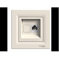Розетка SCHNEIDER_ASFORA EPH4300123 комп'ютерна RJ45 категорія 5e крем
