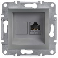 Розетка SCHNEIDER ASFORA EPH4300162 комп'ютерна RJ45 категорія 5e сталь