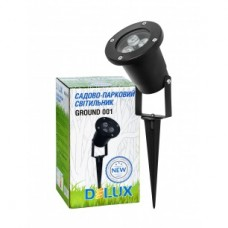 Світильник садово-парковий Delux GROUND 001 LED 3 * 1W 5000К 220V IP44