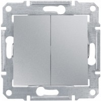 Вимикач 2кл. SCHNEIDER ASFORA EPH0300161 алюміній
