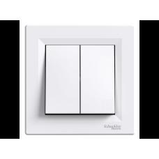 Вимикач 2кл. SCHNEIDER ASFORA EPH0300121 білий