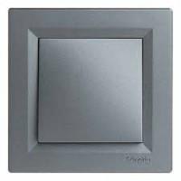 Вимикач одноклавішний_SCHNEIDER_ASFORA EPH0100162 сталь