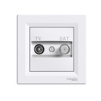 Розетка SCHNEIDER ASFORA EPH3400121 TV / SAT конц. (1 дБ) біла