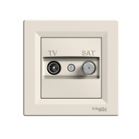 Розетка SCHNEIDER ASFORA EPH3400123 TV/SAT конц.(1 дБ) крем