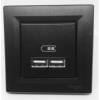 Розетка SCHNEIDER ASFORA EPH2700271 USB 2,1A антрацит