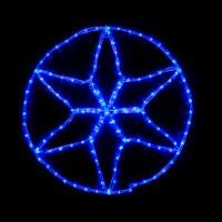 Гірлянда зовнішня DELUX MOTIF Star 0,6 * 0,6 м 13 flash синій IP 44 EN