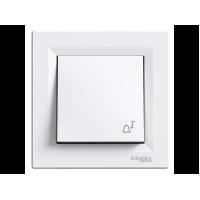 """Вимикач кнопка """"дзвінок"""" SCHNEIDER ASFORA EPH0800121 білий"""