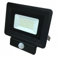 Прожектор світлодіодний 30W 2820lm S4-SMD-30-Slim 6500К 220V IP65 BIOM з датчиком руху