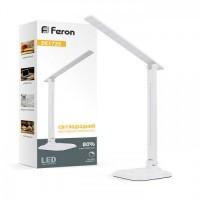 Настільна лампа Feron DE1725 9W 30LED біла