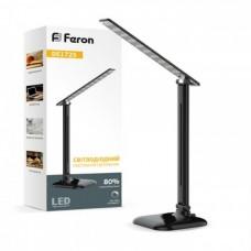 Настільна лампа Feron DE1725 9W 30LED чорна
