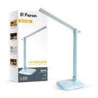 Настільна лампа Feron DE1725 9W 30LED блакитна