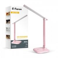 Настільна лампа Feron DE1725 9W 30LED розова